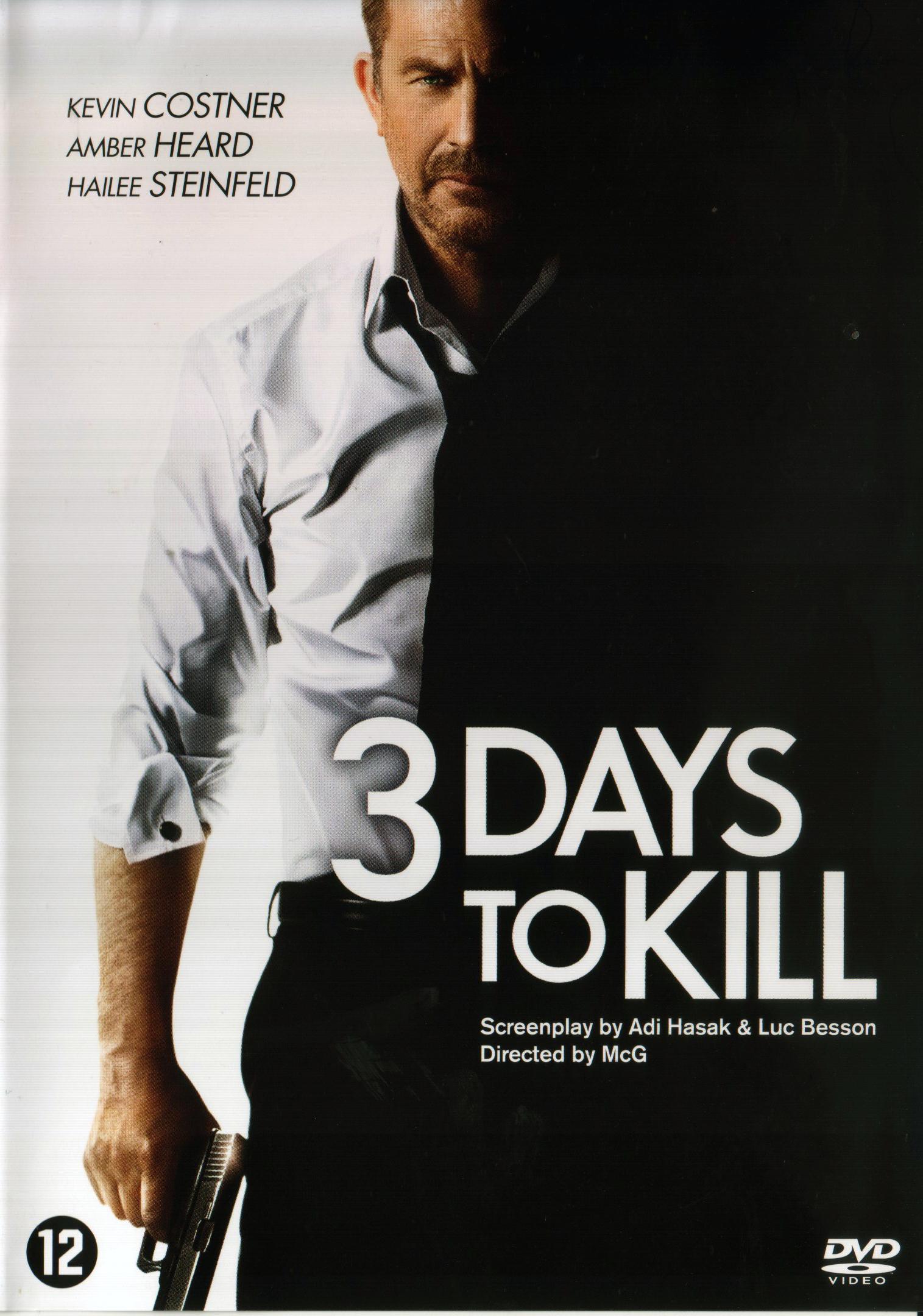 3 days to kill dvd filmrecensies hardware reviews nieuws en nog veel. Black Bedroom Furniture Sets. Home Design Ideas