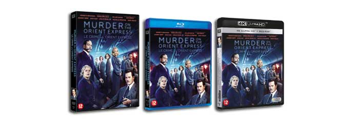 Murder on the Orient Express DVD, Blu-ray Disc, UHD