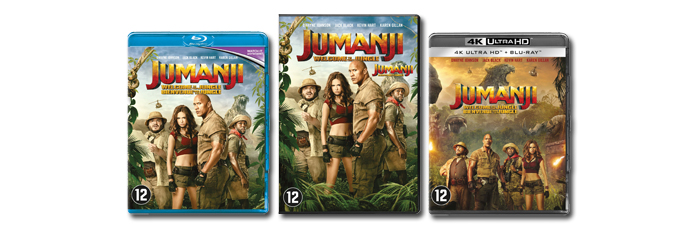 Jumanji Welcome to the Jungle DVD, Blu-ray UHD
