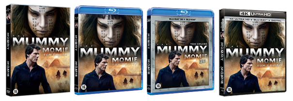 The Mummy 2017 DVD, Blu-ray & UHD