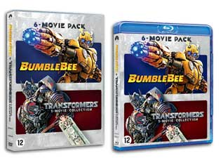 Transformers 6 pack films op DVD en Blu-ray