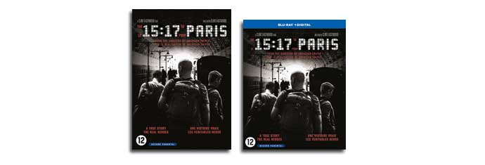 THE 15:17 TO PARIS DVD & Blu-ray